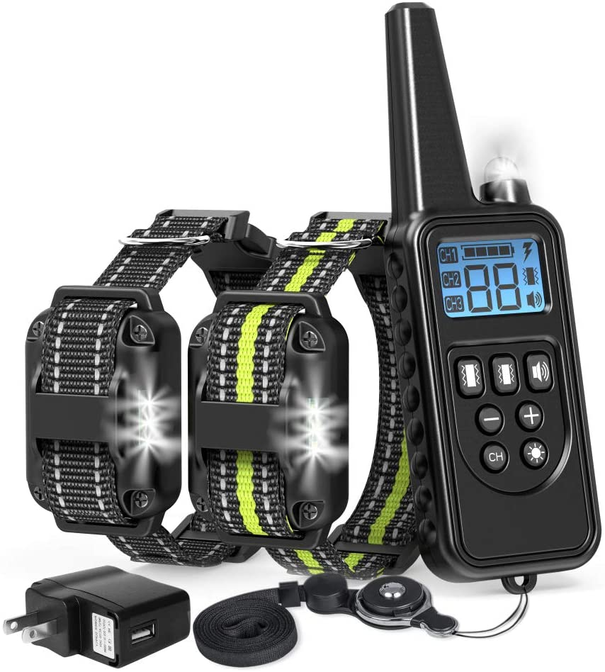 Dog Training Collar, Waterproof Rechargeable